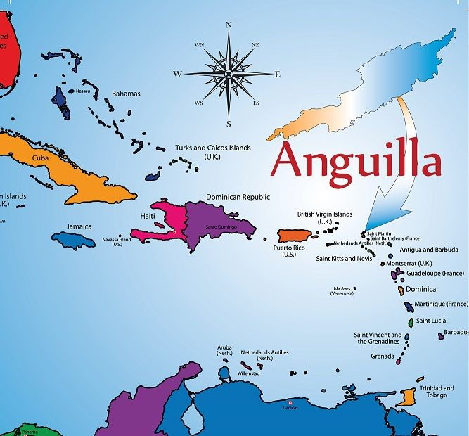Anguilla Is East Of Puerto Rico And The Virgin Islands Tuchman - Map of puerto rico caribbean islands