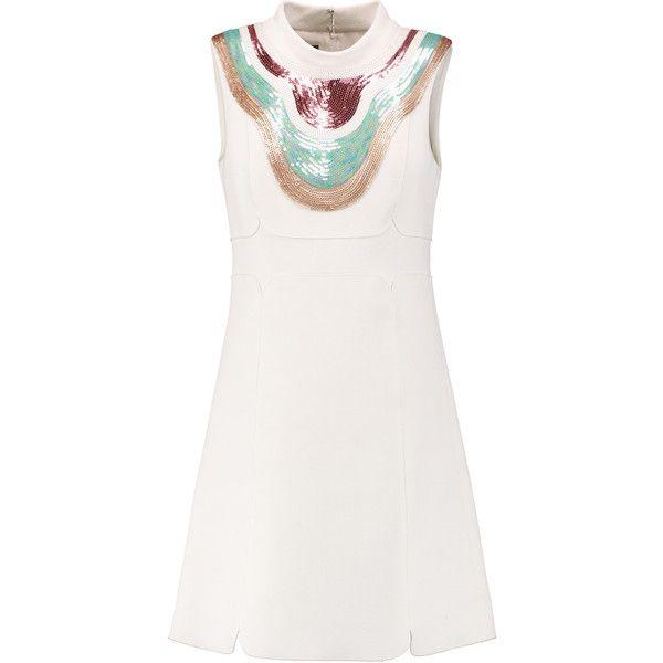 Giambattista Valli Sequin Embellished Crepe Mini Dress