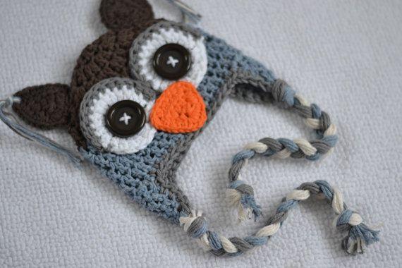 2b4fef193 baby hat, animal hat, owl hat, baby hat, boys owl hat, crochet kids ...