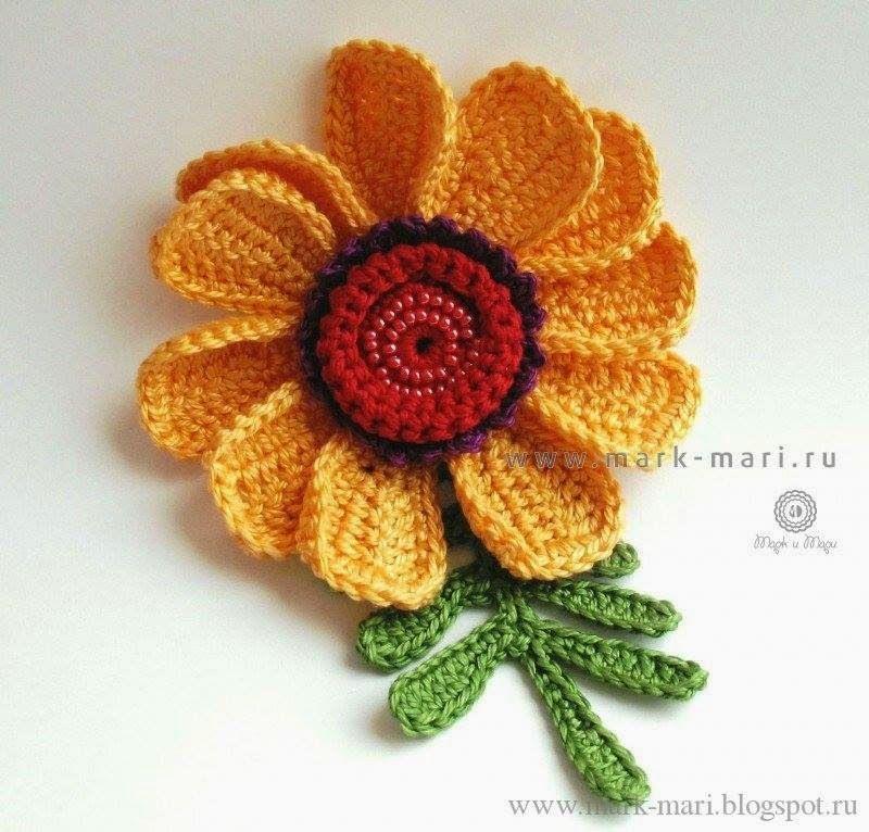 Cubrecama tejido al crochet - con patrón | Flores crochet ...