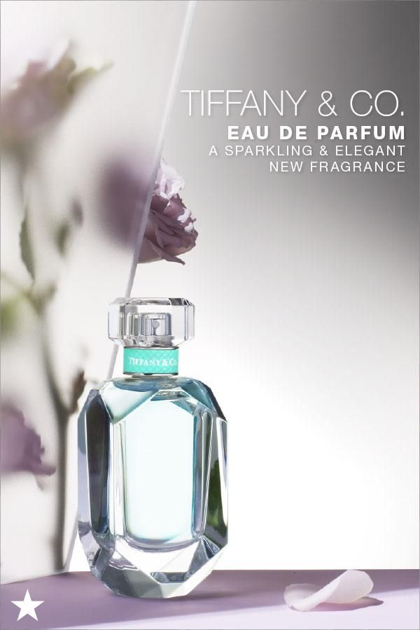 87657629faf The latest scent from Tiffany & Co., new Tiffany eau de parfum is as  elegant, sparkling and romantic as one of their iconic diamond rings.