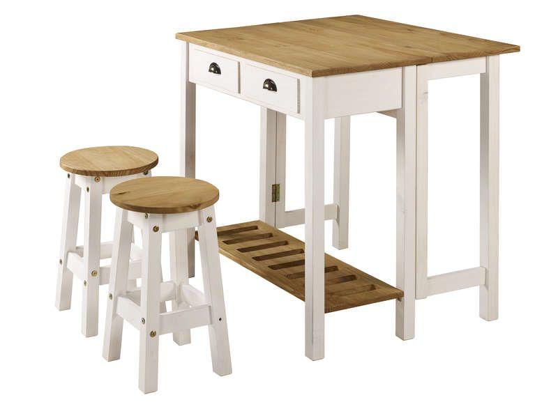 ensemble table pliante 2 tabourets en
