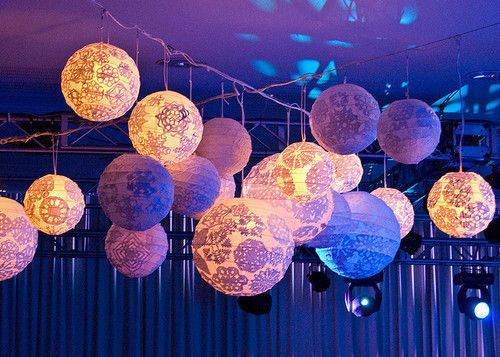 Beautiful Little Paper Lanterns I Suppose You Could Make Snowflake Designs Or Buy Doilies Attach Them To Purchased