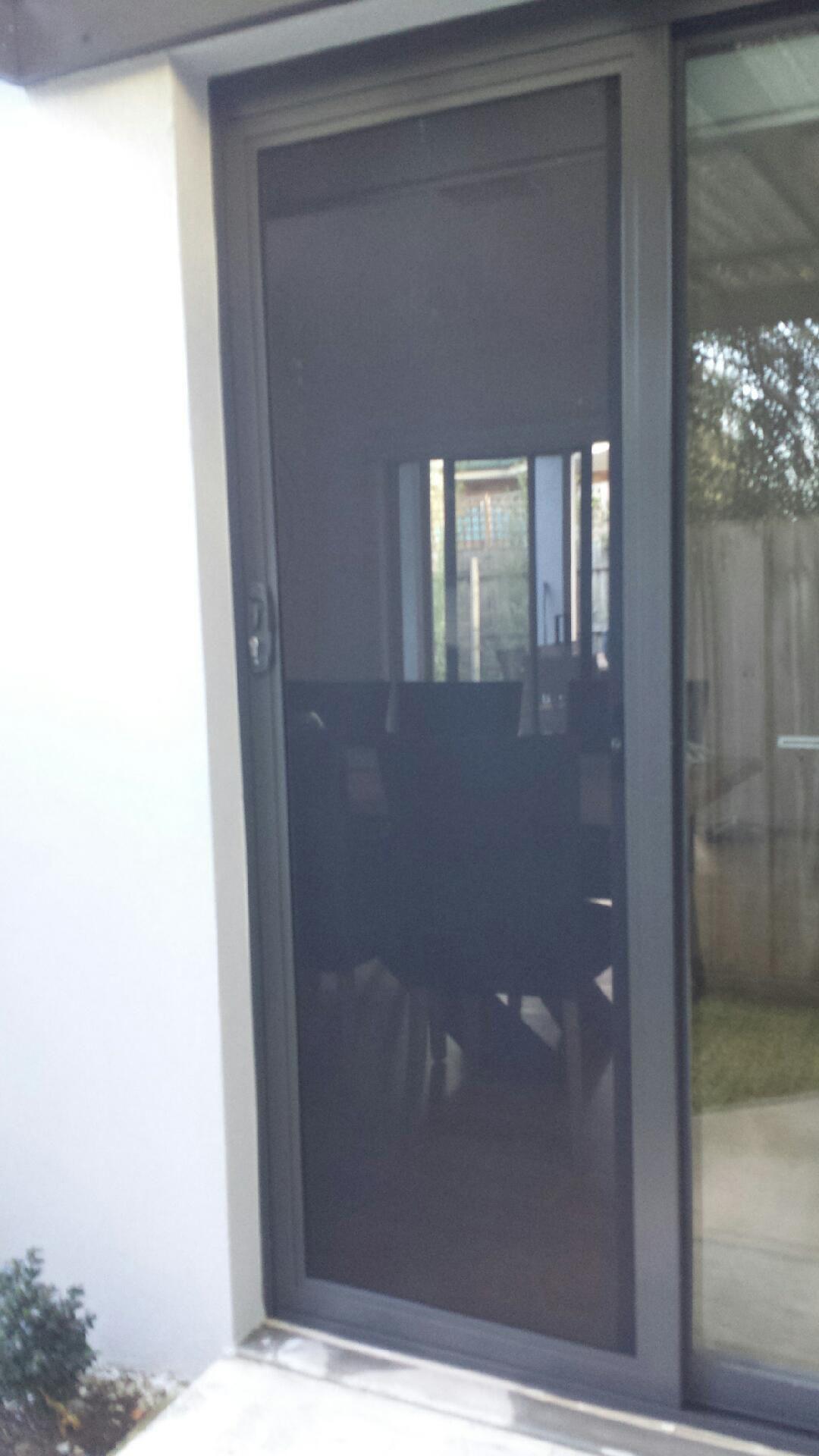 Aluminium frame sliding security screen door with