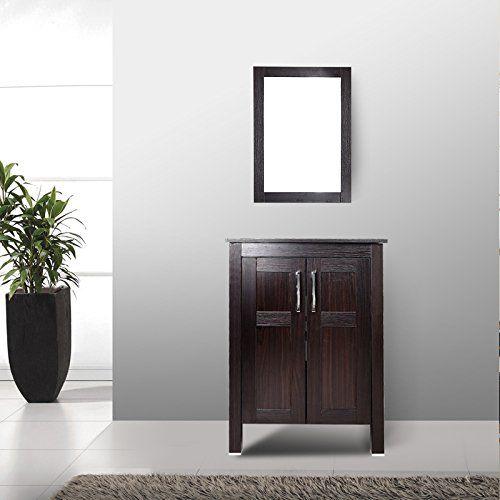Best Photo Gallery For Website Elecwish Modern Bathroom Vanity Suite Stand Pedestal Cabinet Wood Dark Espresso