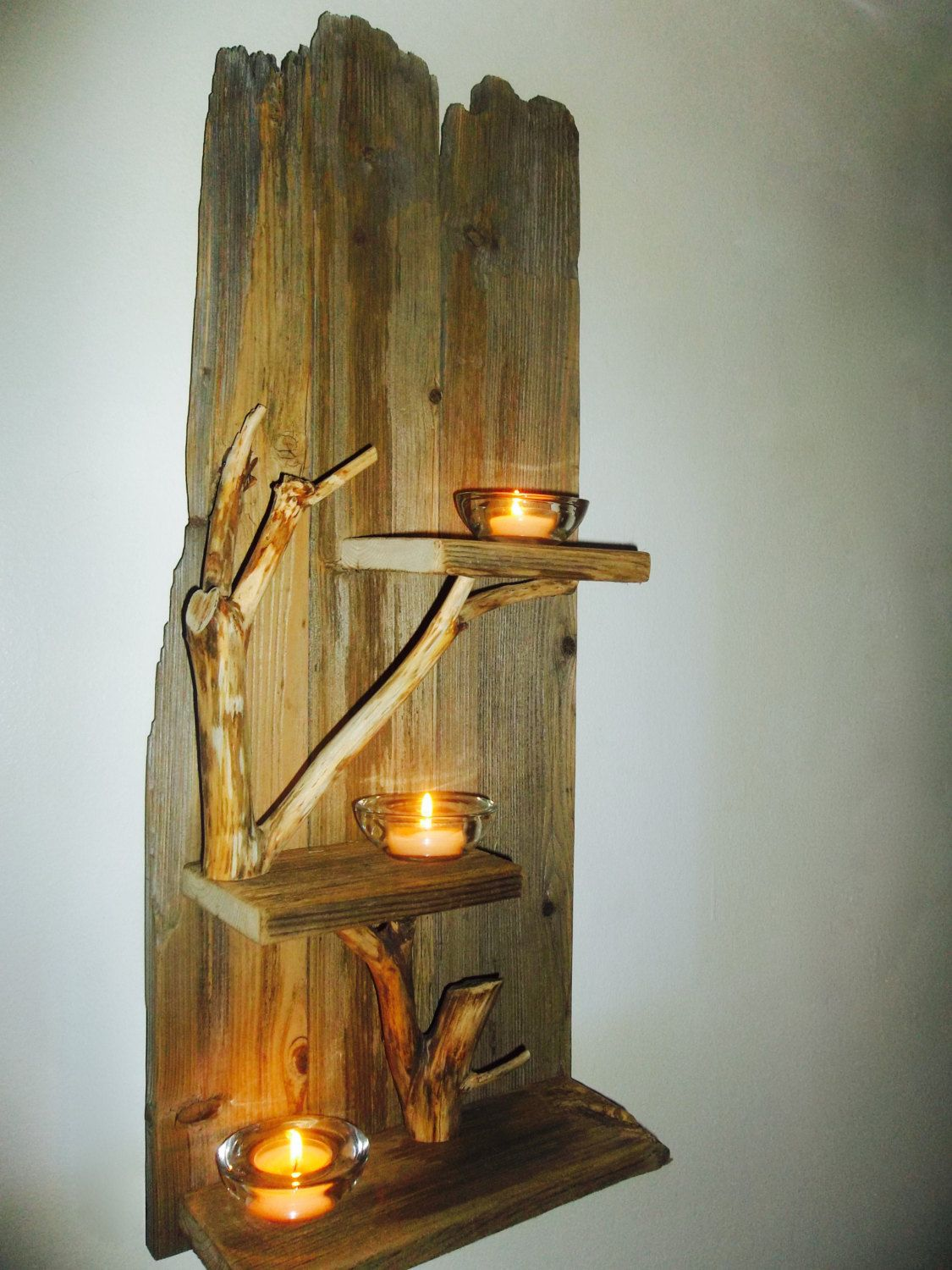 Wall Sconce,Wall Lighting,Home Decor,Wall Decor,Wood Sconces,Wood  Lighting,Tealight Holder,Wall Shelving,Rustic Wall Decor,Wall Displays By  DinosWoodshop On ...