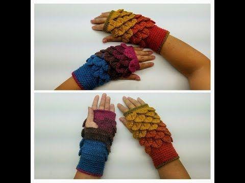 Learn How To Crochet Autumn Leaves Fingerless Gloves Wristers ...