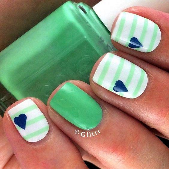 45 Creative and Pretty Nail Designs Ideas | Uña decoradas, Manicuras ...