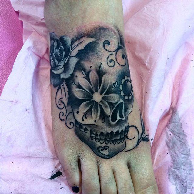 Fun Candy Skull Cover Up Tat Tattoo Tattoos Toptags Ink Inked Instaart Bodyart Skull Skullt Ankle Tattoo Cover Up Candy Skull Tattoo Cover Up Tattoos