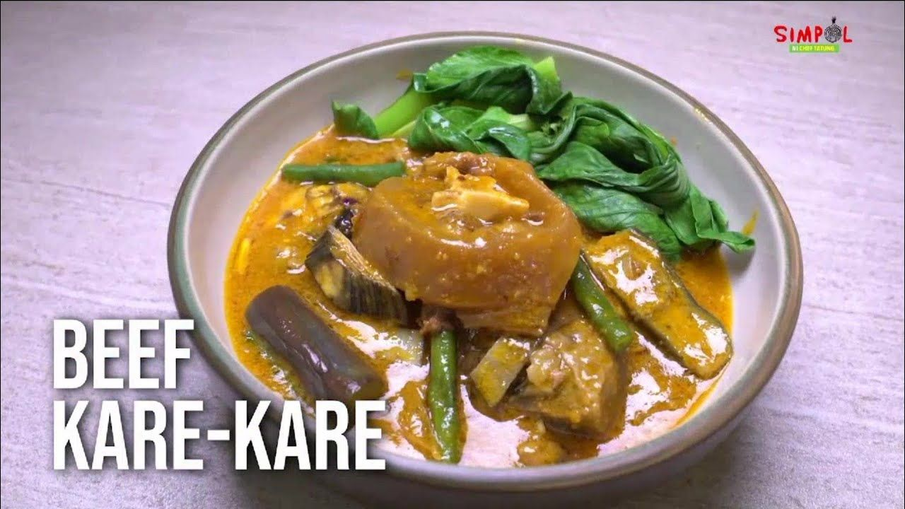 Beef Kare Kare Lutong Simpol Recipe Chef Tatung April Recipe Recipes Food