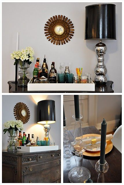 Tray On Top Old Dresser As Bar Cart Dining Cabinet Substitute
