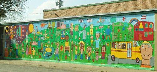 Los fresnos tx elementary school mural murals for Elementary school mural ideas