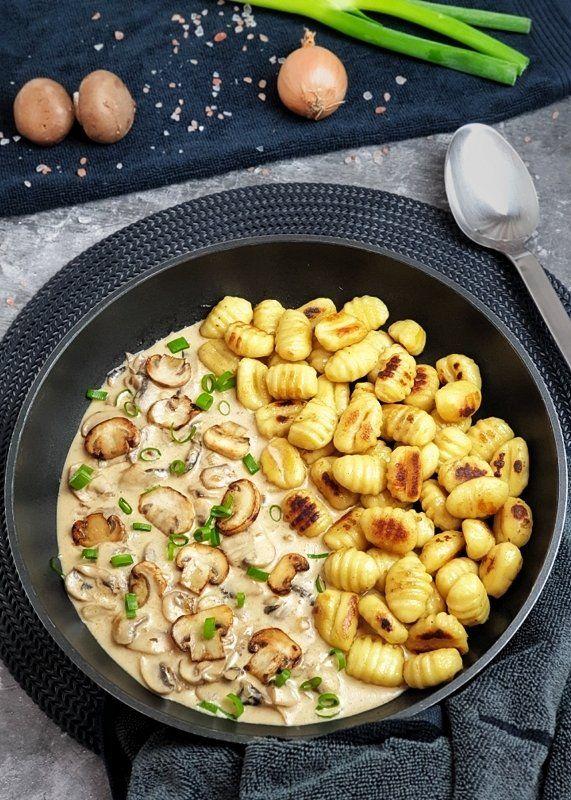 Gnocchi mit Pilz Rahm Soße | Lydiasfoodblog #workoutfood