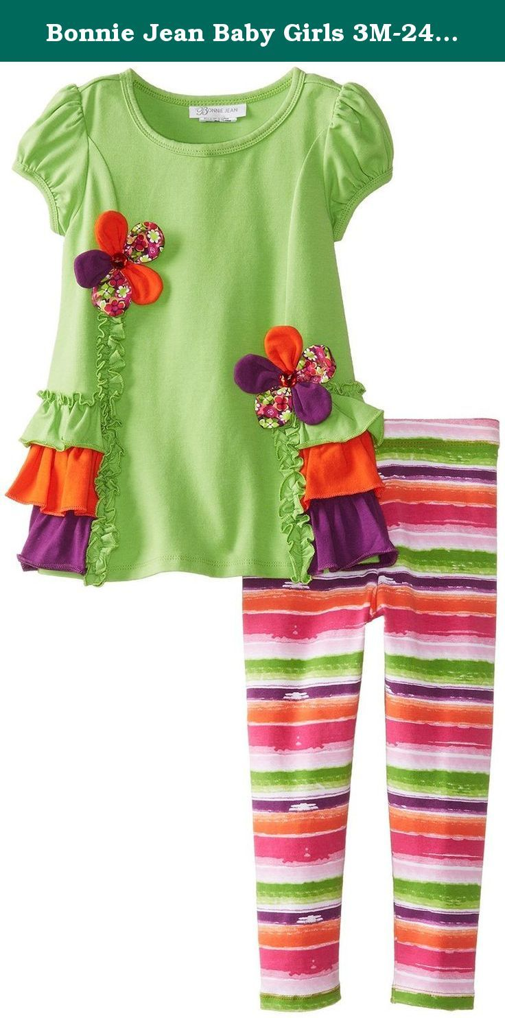 Bonnie Jean Baby Girl Fall Floral Dress Set 3m-24m