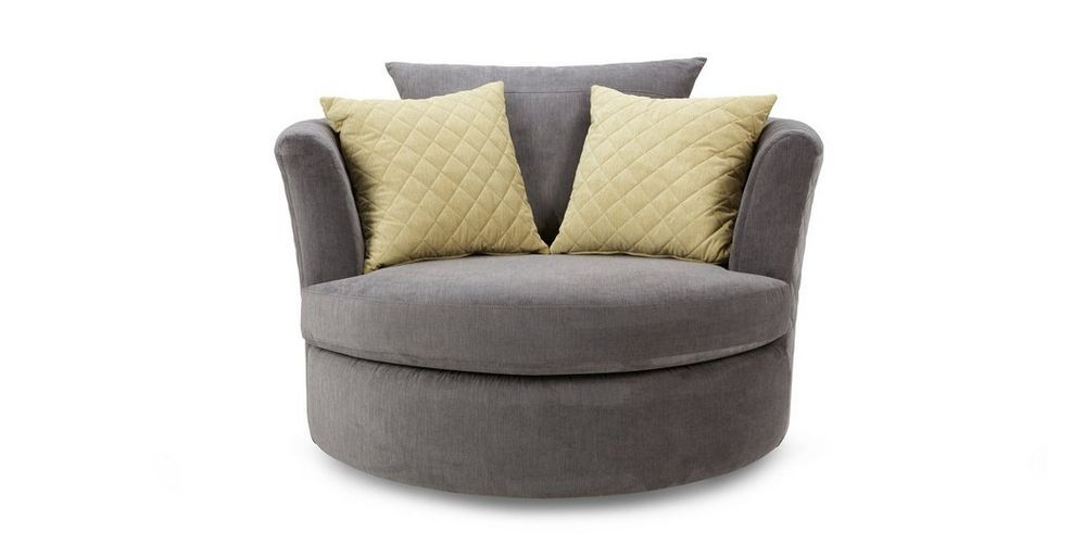 Astaire Large Swivel Chair Sherbet | DFS