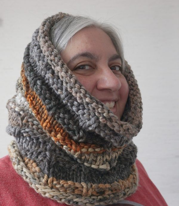 Chunky Knit Cowl Pattern: Rustic Hooded Cowl   Cowl ...