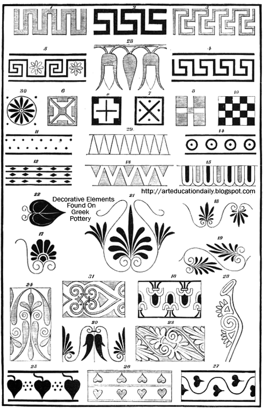 Greek And Roman Pottery Design Lesson Plan Art Education Daily Enchanting Greek Vase Patterns