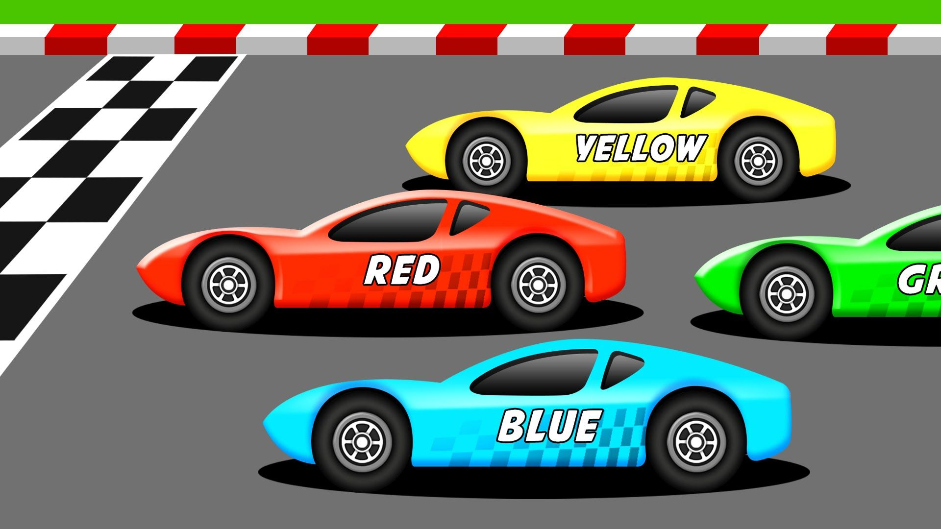 Learn The Colors With Racing Cars Race Cars Kids Police Car Racing