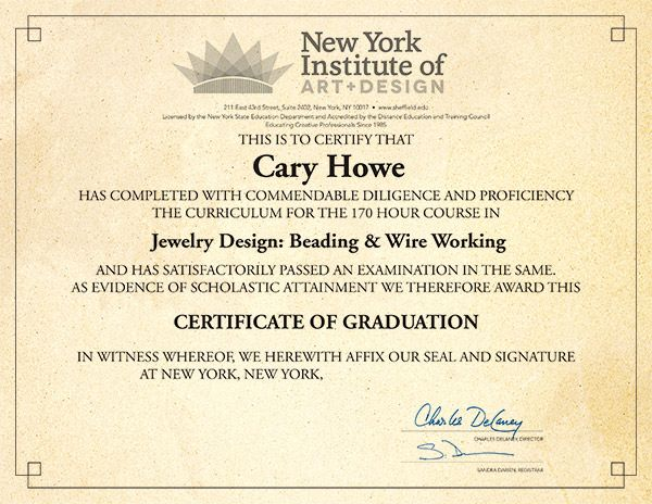 Beading Courses - Jewelry Design - New York Institute of Art u0026 Design  sc 1 st  Pinterest & Jewelry Design Course | Sheffield School | Interior design courses ...