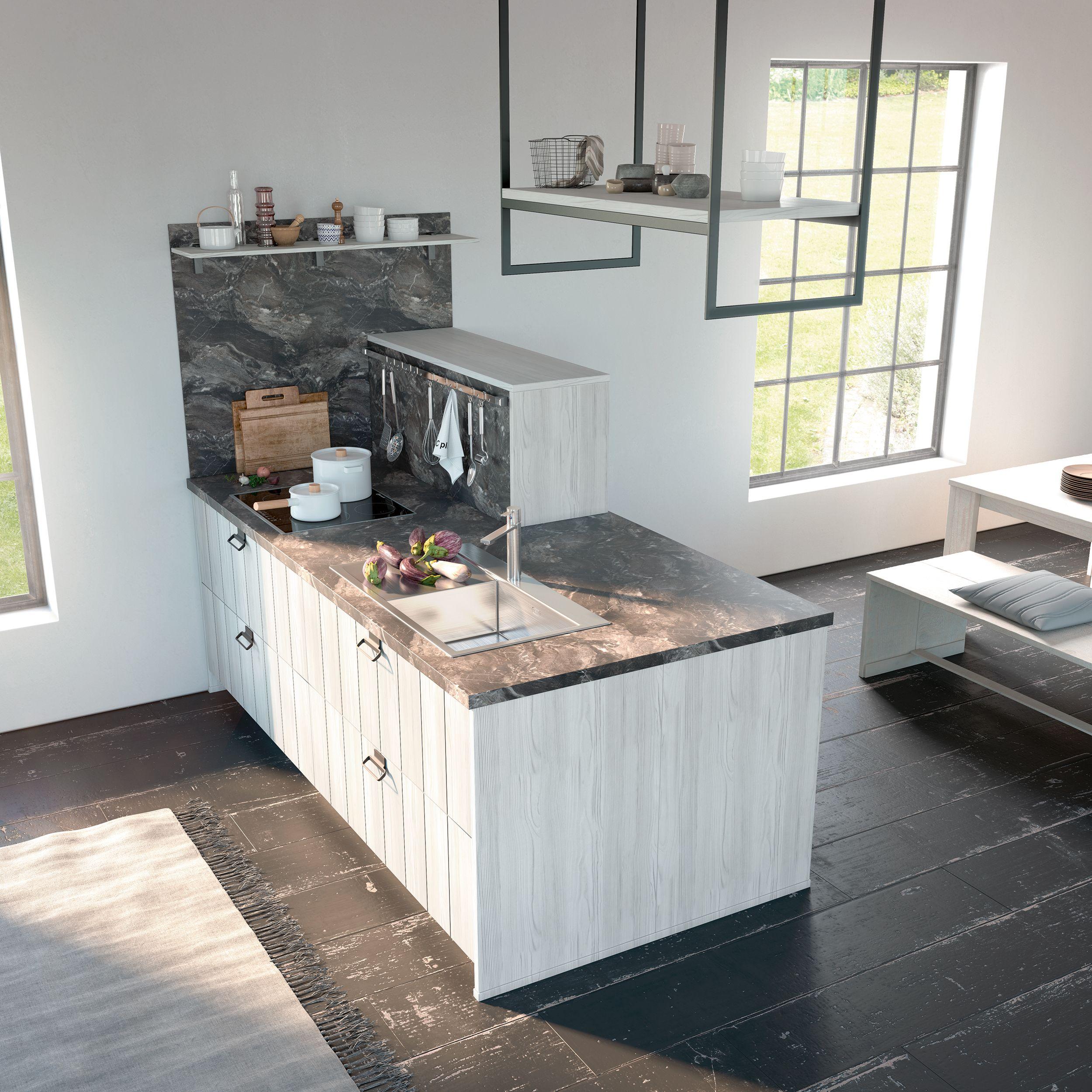 Ist der Raum nicht groß genug für eine Kücheninsel, kann ...