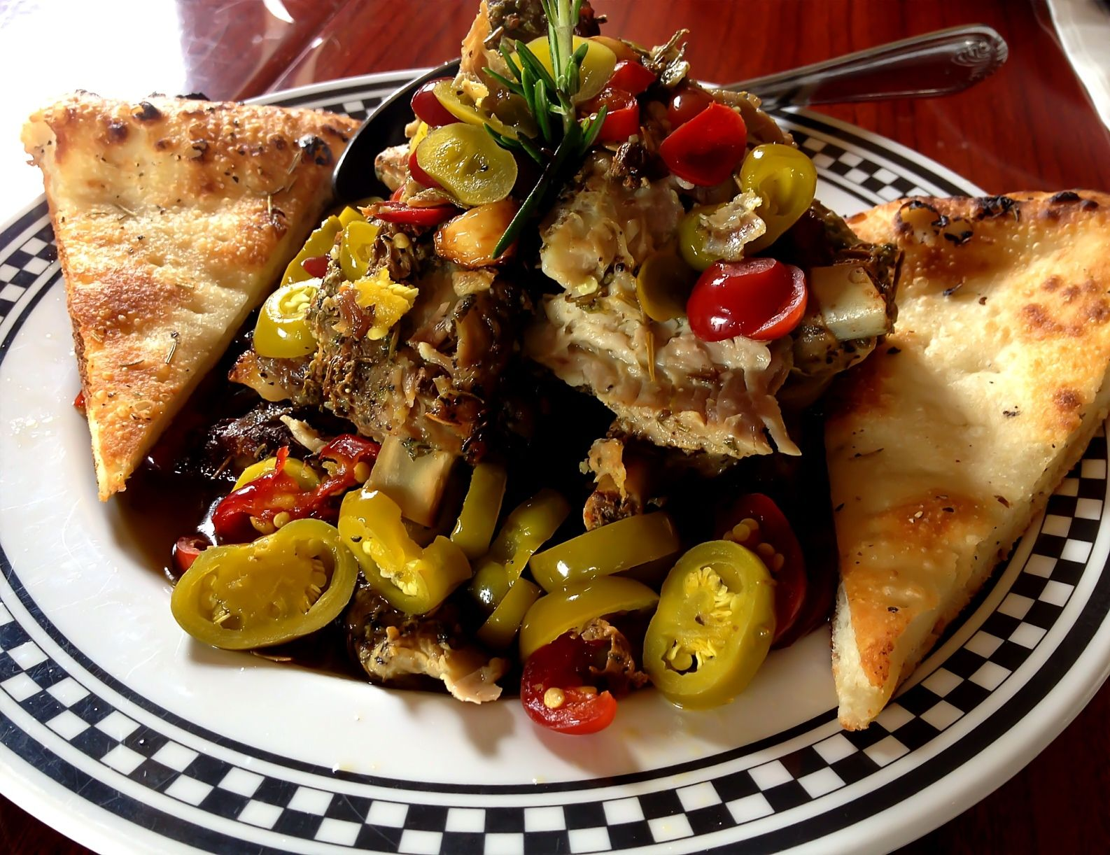 Anthonys Coal Fired Pizza  Pork Ribs With Vinegar Peppers