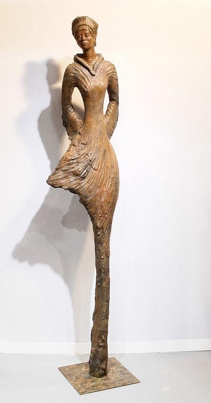 """sculpture contemporaine France  bronze edition limitée 1/8 """"alpha"""""""