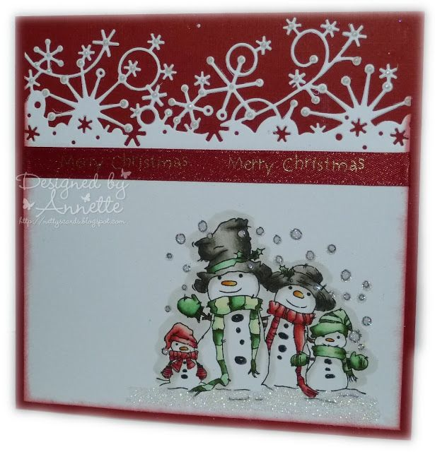 Netty\u0027s Cards Snow Family Lili of the Valley Xmas Pinterest