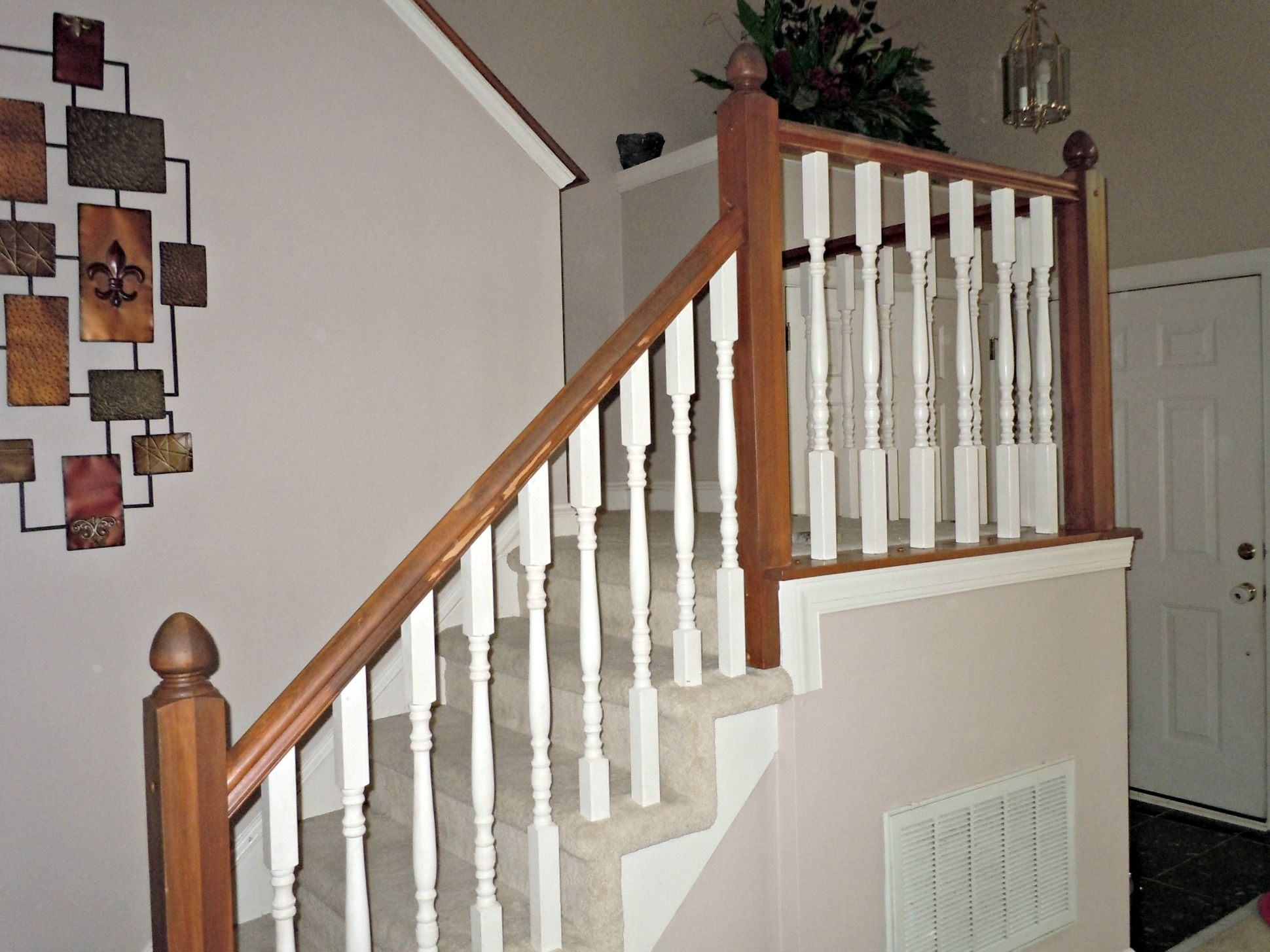Diy Oak Banister Makeover, Semi Domesticated Mama Featured On Remodelaholic