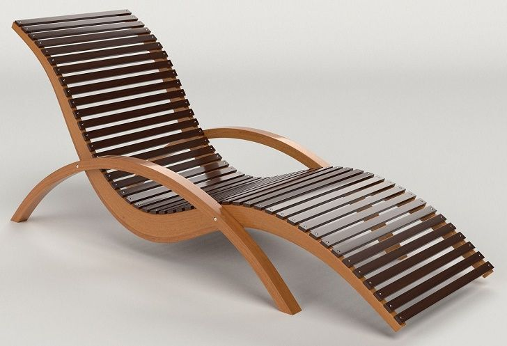 Wooden Lounge Chair For Beautiful Outdoor Swimming Pool Design