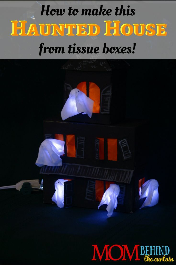 Easy DIY Halloween Craft Tissue box haunted house Pinterest Top - halloween house decoration