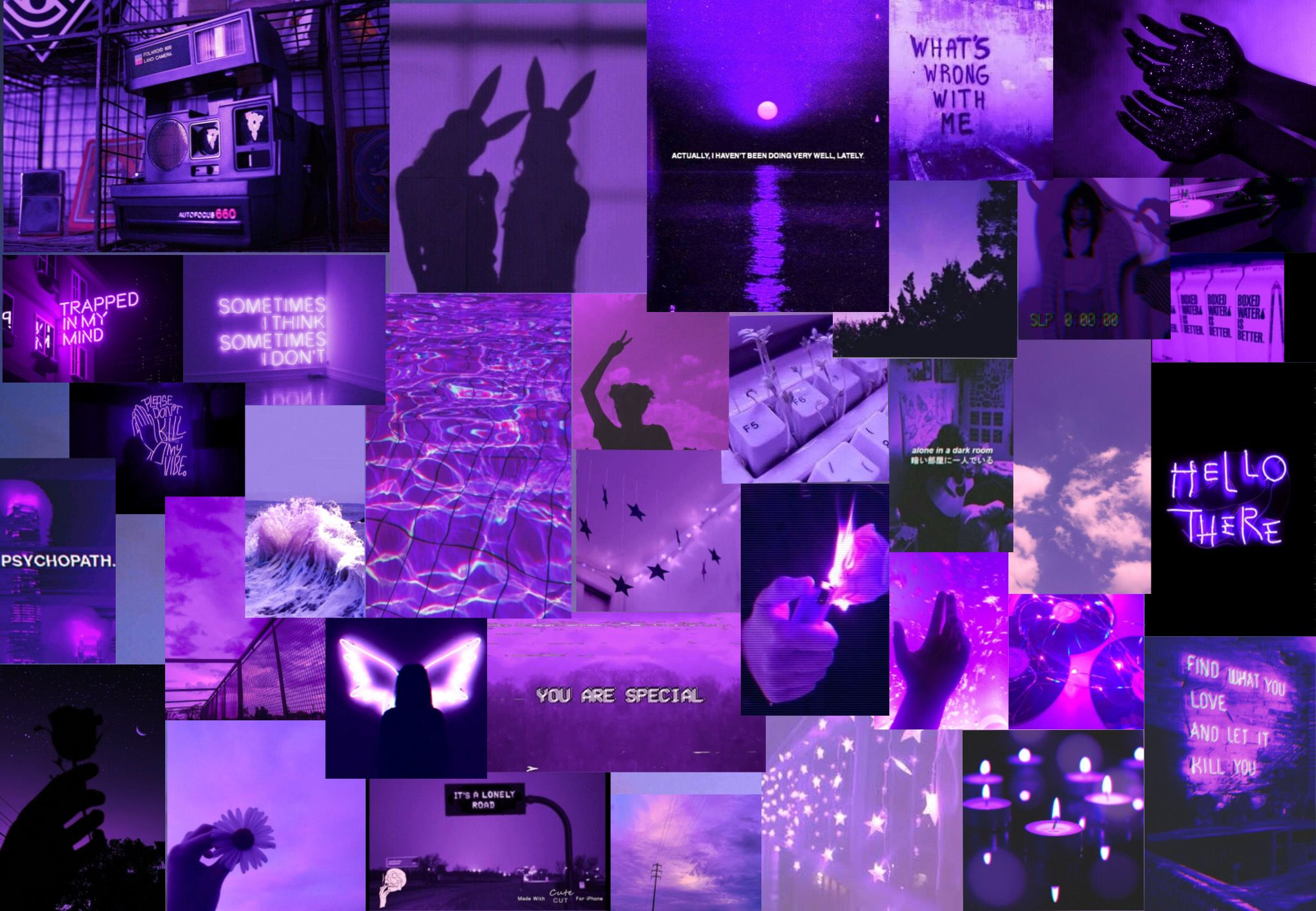 Pin By Vicktoria On Wallpapers Purple Wallpaper Purple Aesthetic Aesthetic Desktop Wallpaper