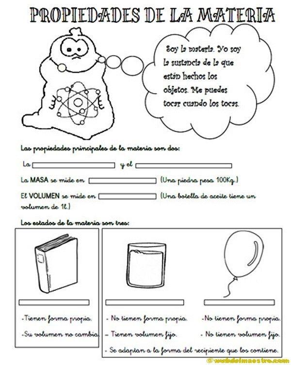 Propiedades-de-la-materia-para-3º-de-primaria | LA MATERIA | Pinterest