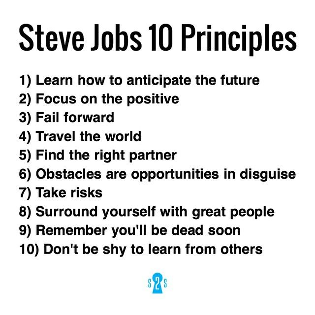 Time to take notes! Steve Jobsu0027 10 Principles to Success that - how do you evaluate success