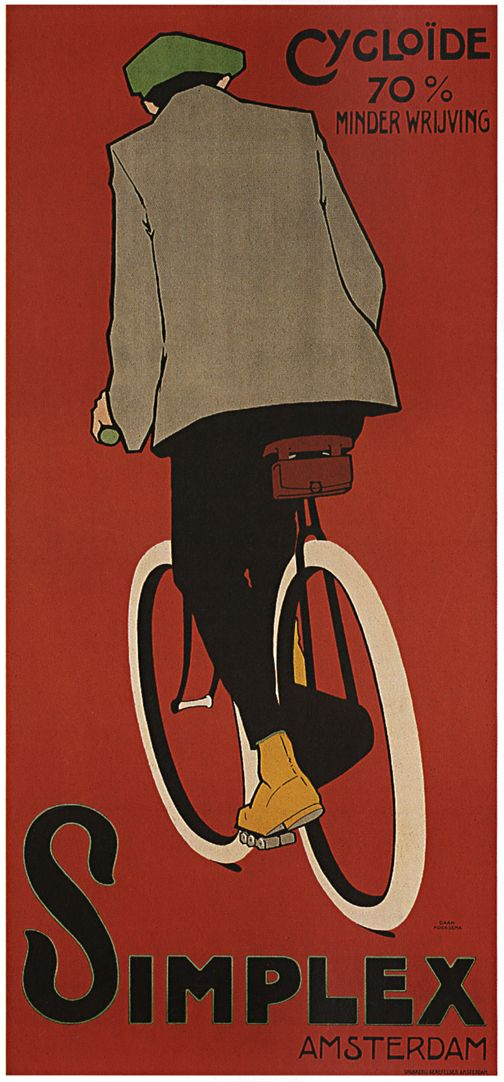 Cyclist Daan Hoeksema Simplex French Poster Framed Wall Art — MUSEUM OUTLETS