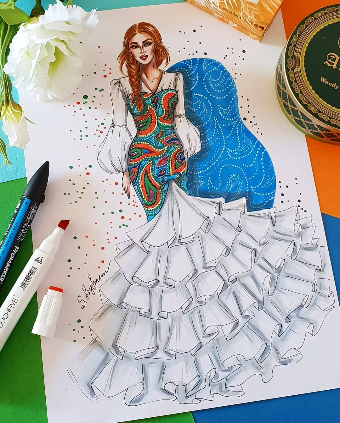 Fashionartist Fashiondesigner Fashiondrawing Fashionillustrator Fashionsk Dress Design Sketches Fashion Illustration Dresses Illustration Fashion Design