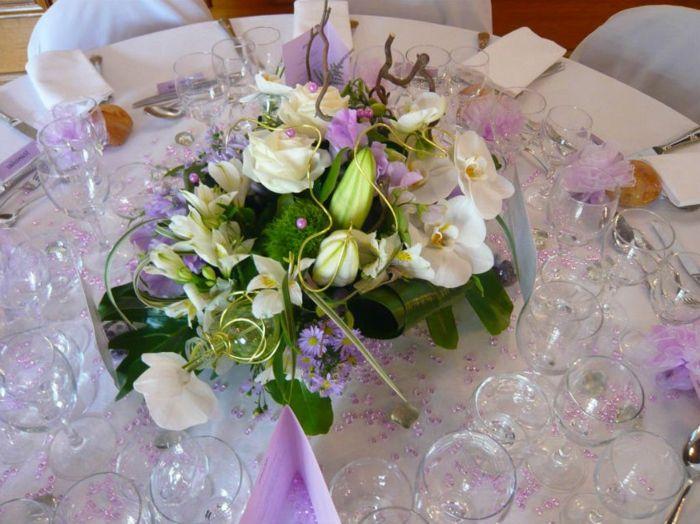 Hochzeit tischdekoration glas