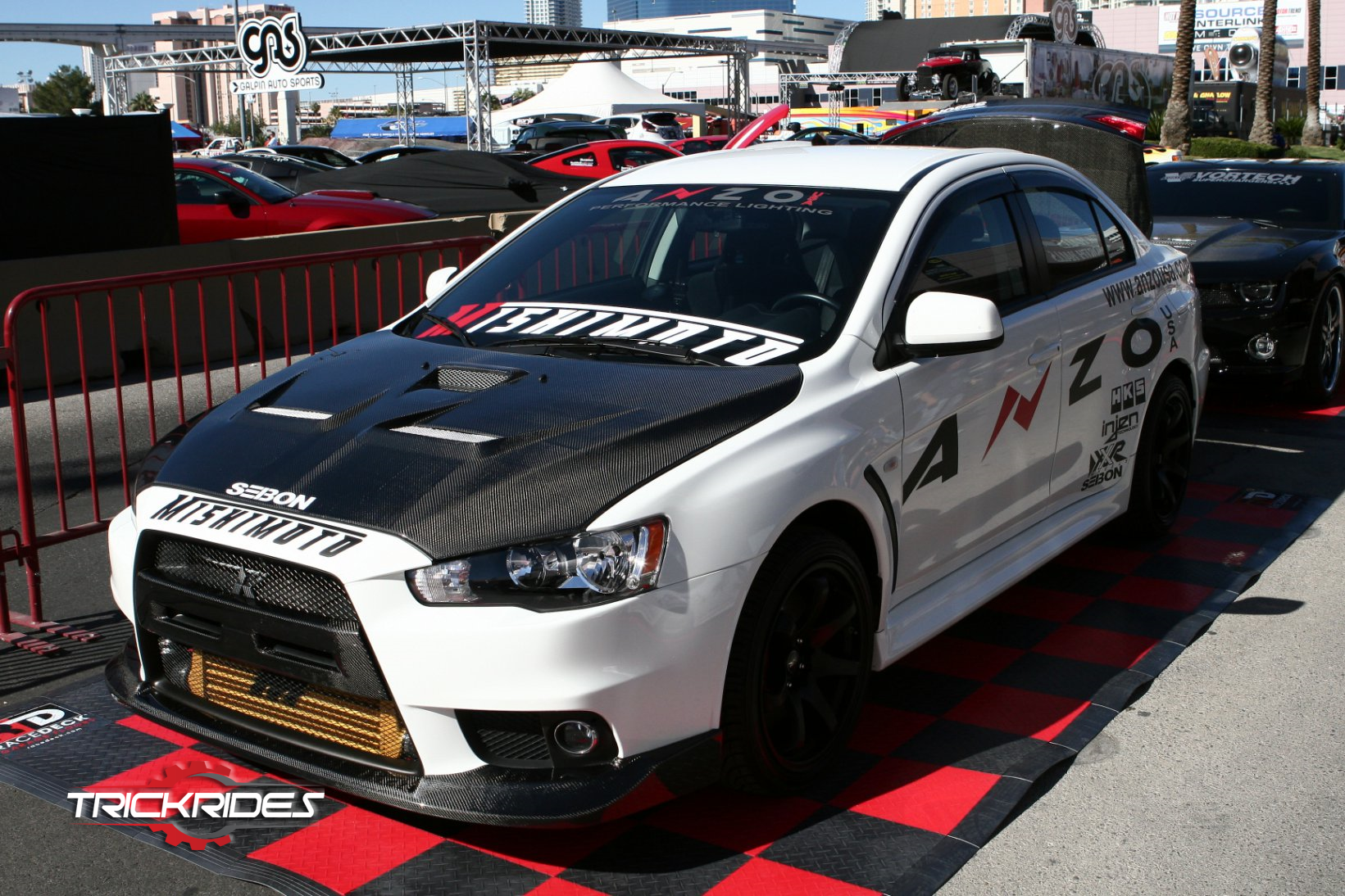 Mitsubishi Lancer Evolution 10 By Anzousa At Sema Trickrides Sema Customcarshow Aftermarketaccessories Trickyourride