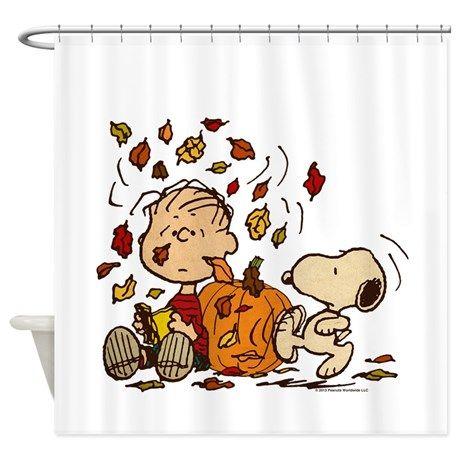 Fall Peanuts Shower Curtain