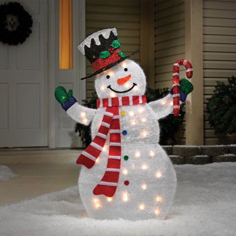 find thenoma tinsel snowman holding a candy cane yard decor by noma at mills fleet farm christmas