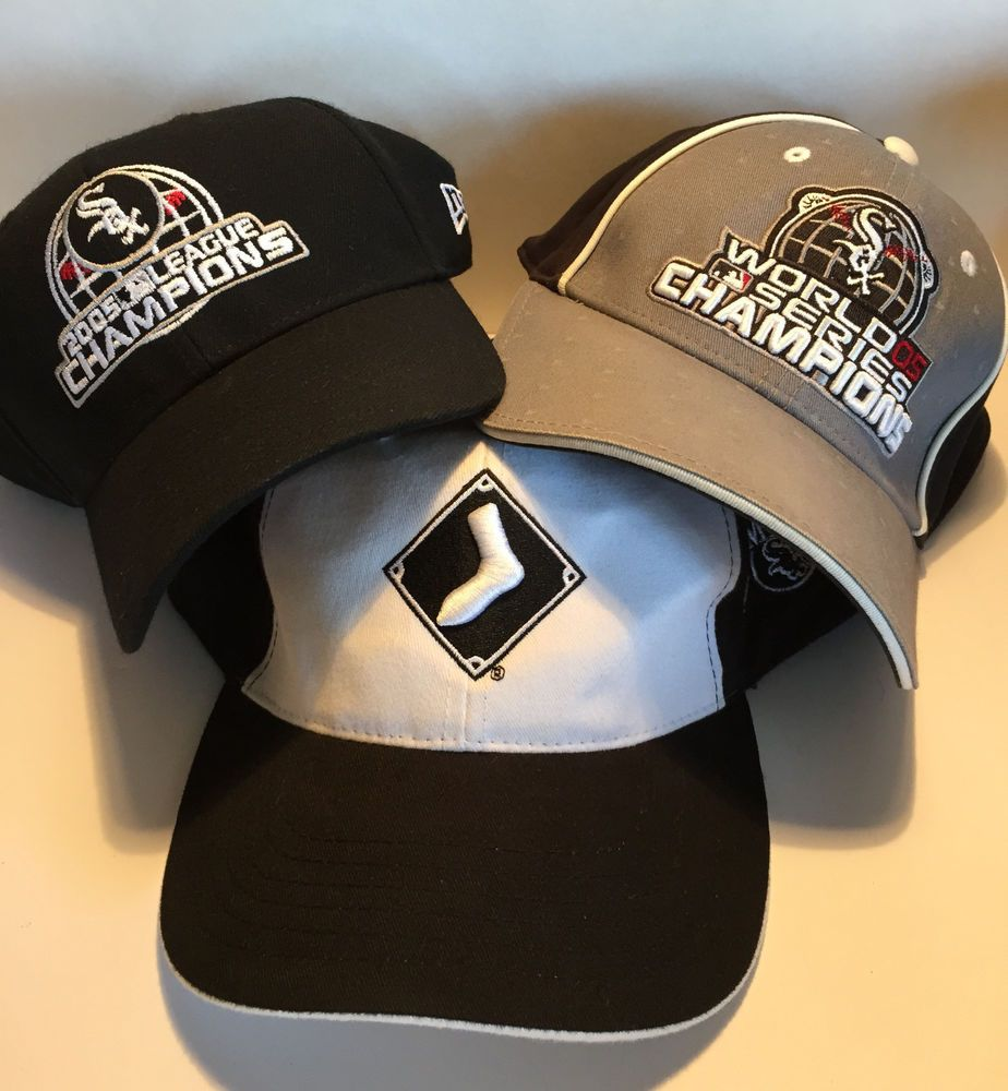 3 chicago white sox 2005 world series hat cap champions champs mlb baseball old chicagowhitesox