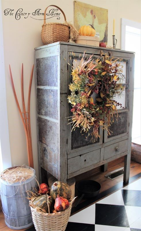 Photo of Fall Cupboards and a Couple of Farmhouse Decor Tips