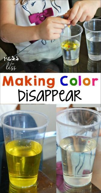 my kids love easy experiments like this one where they made color disappear such a fun stem. Black Bedroom Furniture Sets. Home Design Ideas