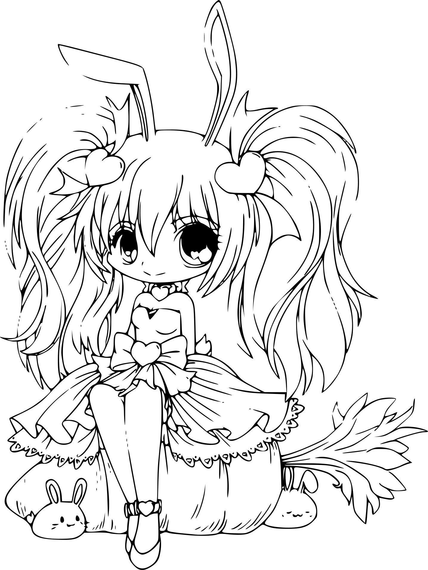 Coloriage kawaii licorne a imprimer unique en ligne manga dessin a imprimer adult coloring - Image licorne ...