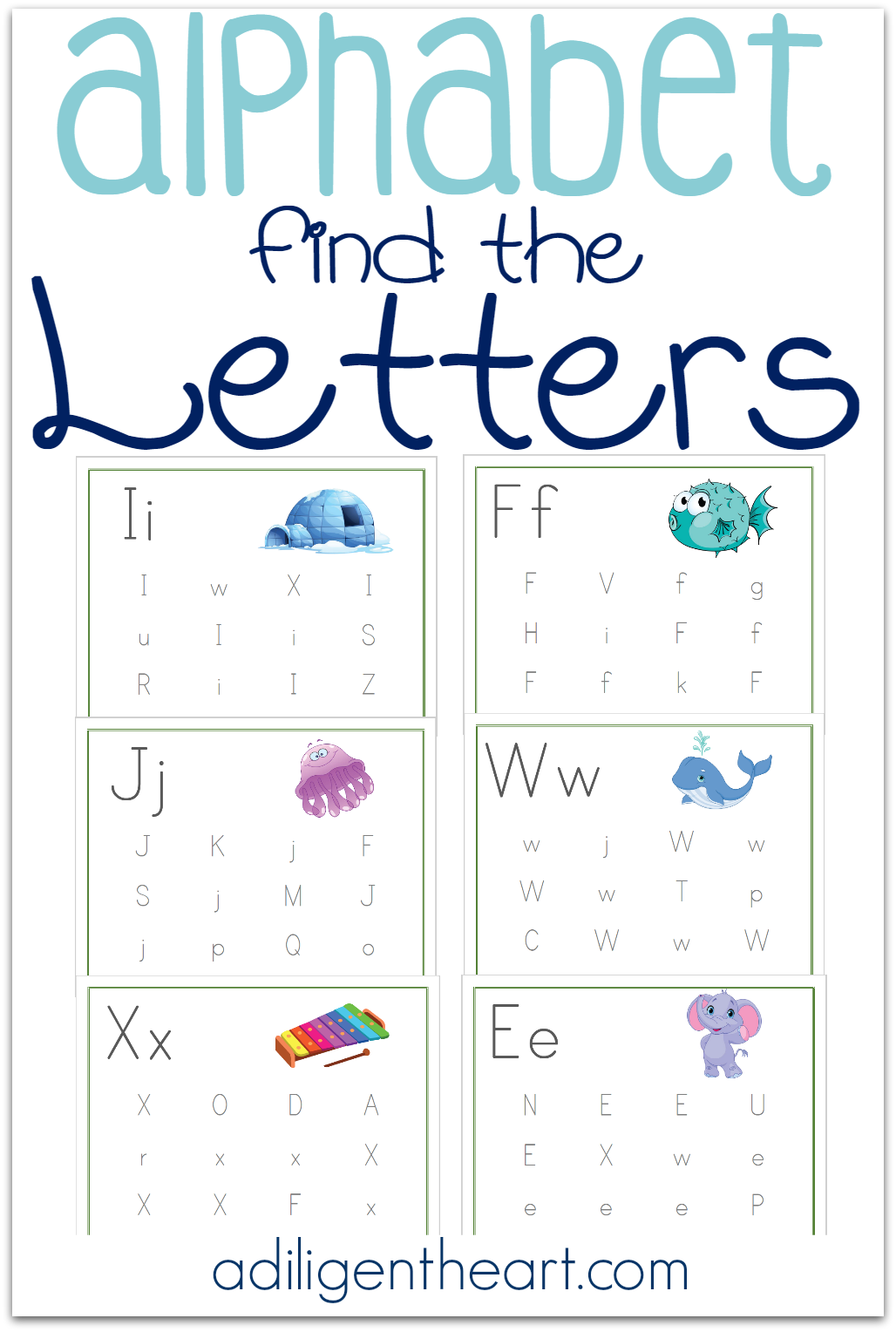Alphabet Find The Letters Pages Free Printable With