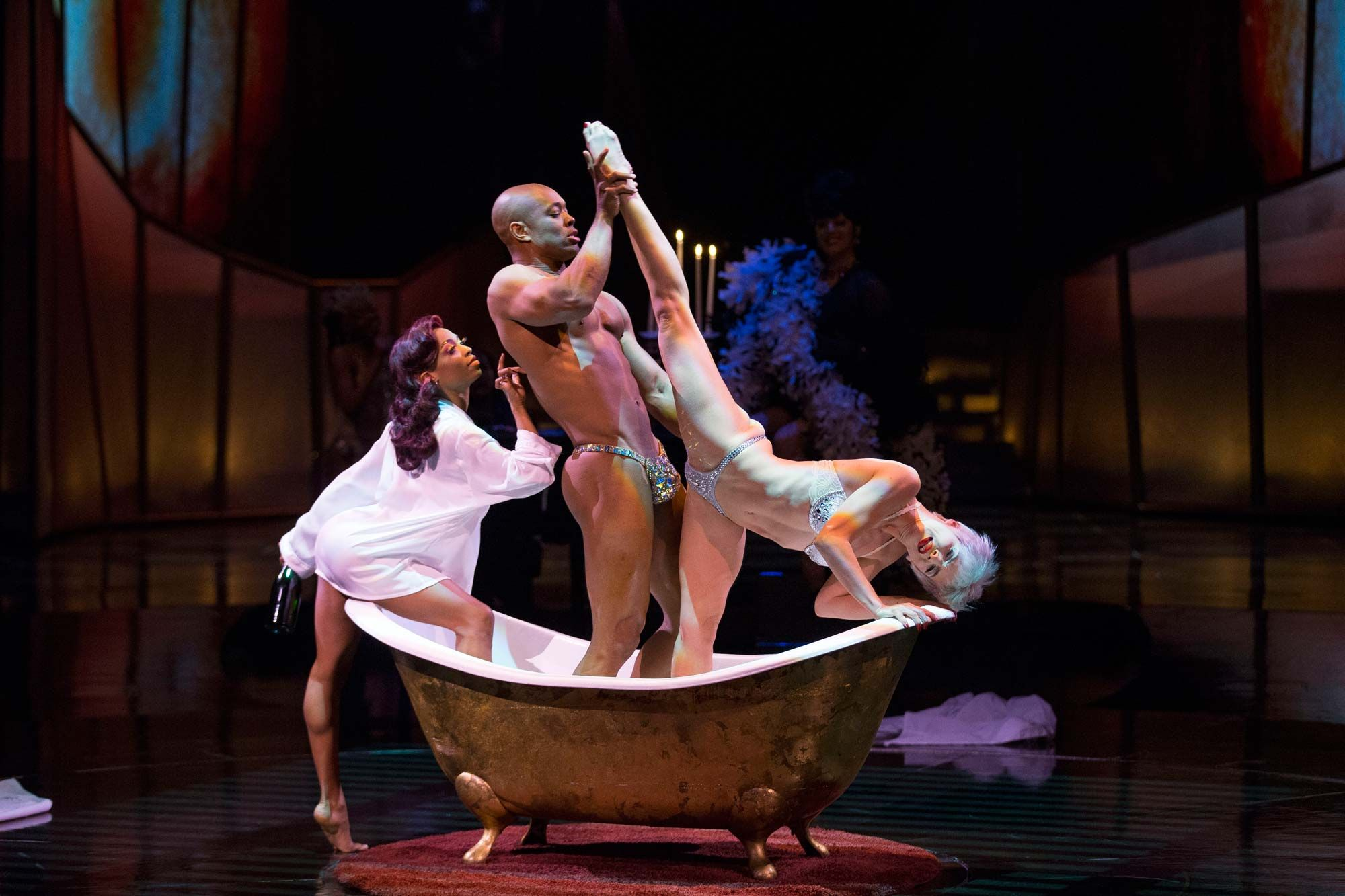 After zumanity met couple for sex