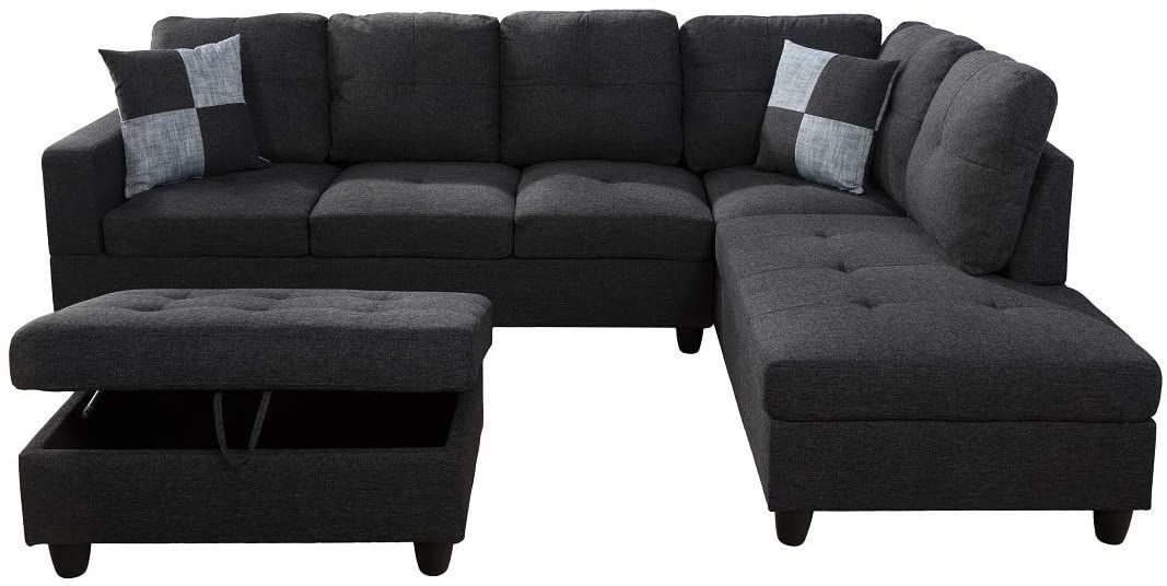 Ainehome Sectional Sofa Sectional Couch With Chaise Ottoman Sectional Sleeper Sofa Right Hand Facin In 2020 Couch With Chaise Sectional Sleeper Sofa Sectional Couch #sleeper #living #room #sets