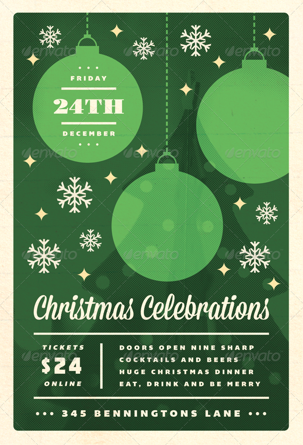Celebrations - Christmas Flyer Template | Christmas flyer, Flyer ...