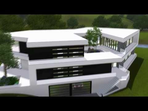 The Sims 3 House Ultra Modern B Mansion Hd Sims 3