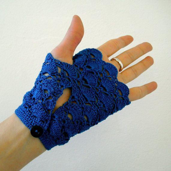 Cortos guantes sin dedos de crochet ganchillo por MariaKonstantin ...