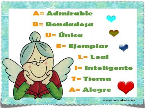 Postal, Día de la Abuela_01 Frases y felicitaciones para todas las ...